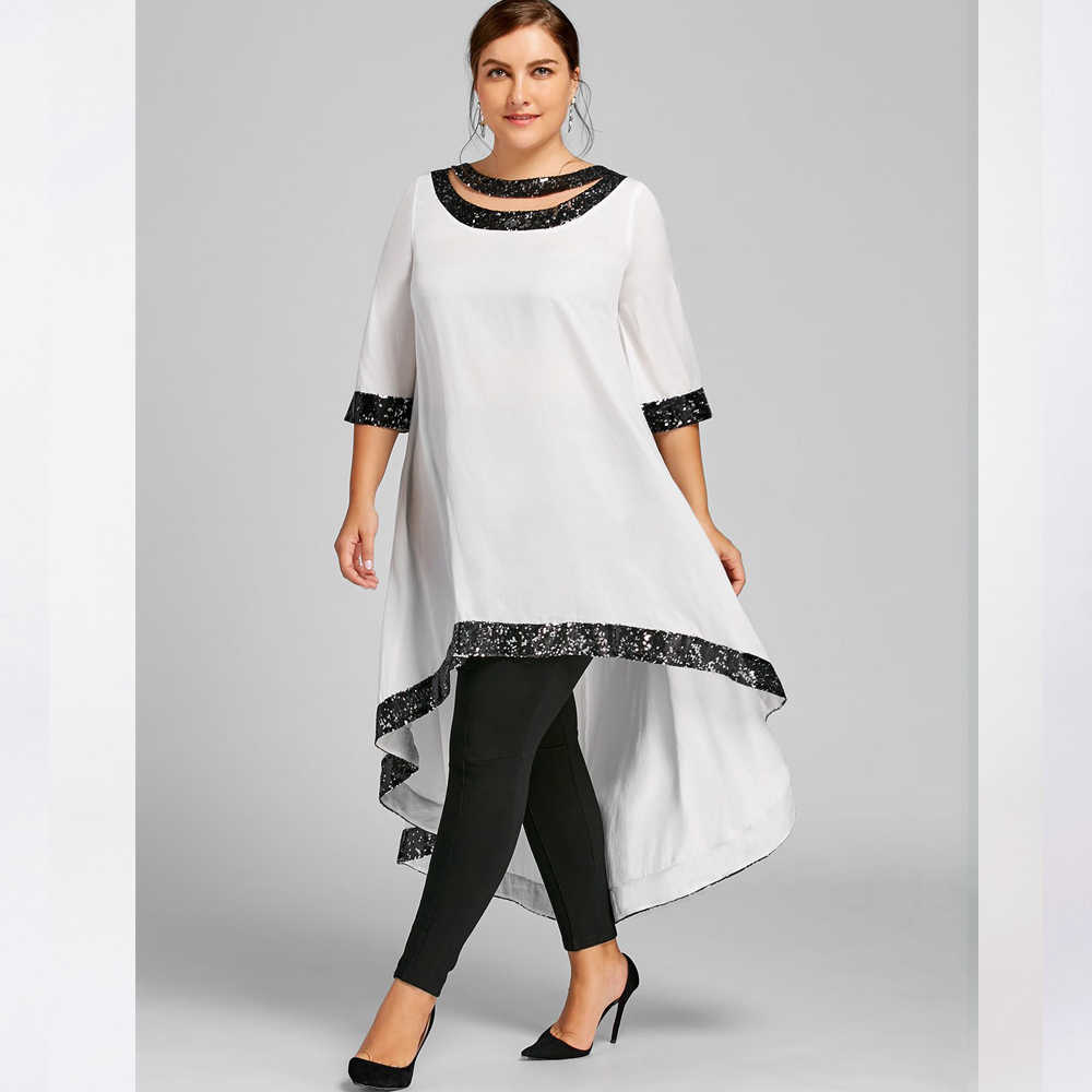 קיץ סתיו שמלת נשים 2019 אלגנטי בציר סקסי נצנצים ארוך מפלגה שמלה מזדמן בתוספת גודל Slim Loose סדיר מקסי שמלות