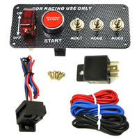 High Quality Racing Car 12V LED Ignition Switch Panel Engine Start Push Button LED Toggle Carbon