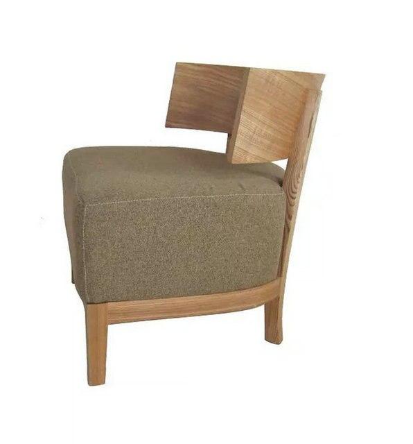 Simple De Style Japonais Bois Fauteuil Chaise En Bois Courbé Chaise - Fauteuil simple