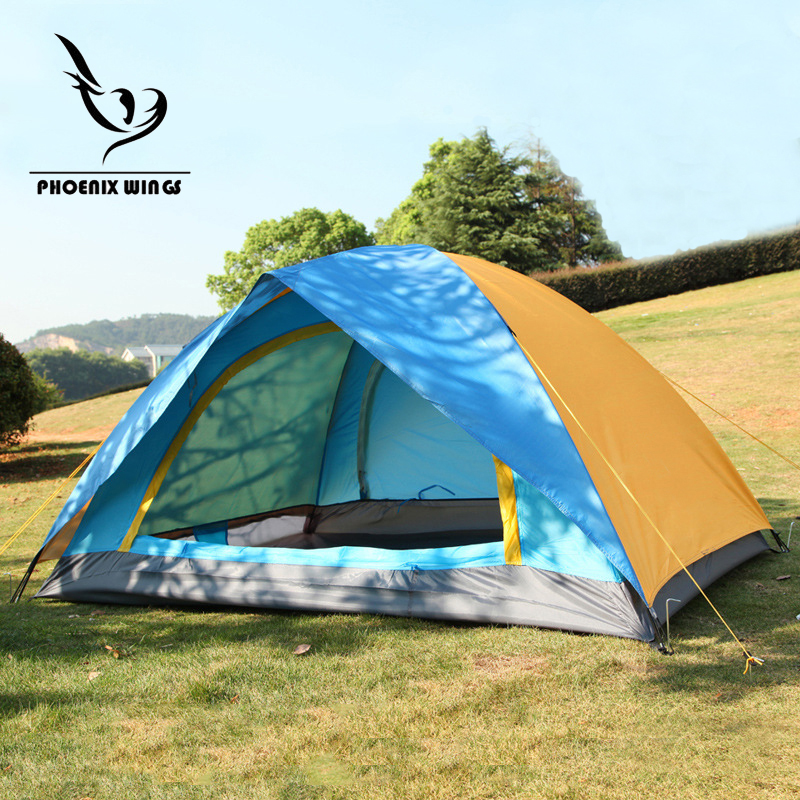 Two Person Double Layer Waterproof Outdoor Camping Tent for Fishing, Hunting Adventure and Family Party Hiking Beach Tent high quality outdoor 2 person camping tent double layer aluminum rod ultralight tent with snow skirt oneroad windsnow 2 plus