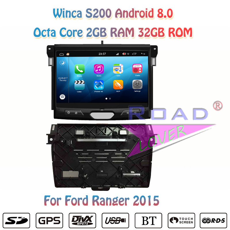 """Winca S200 Android 8,0 Прокат DVD автомобильной плеер для Ford Ranger 2015 стерео gps навигации Automagnitol 2 Din Восьмиядерный 10,1"""""""