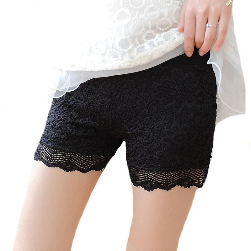 NDUCJSI New Summer Shorts Women High Waist Female Lace Shorts Skinny White Woman Hot Black Shorts Eyelash Ladies Casual Short