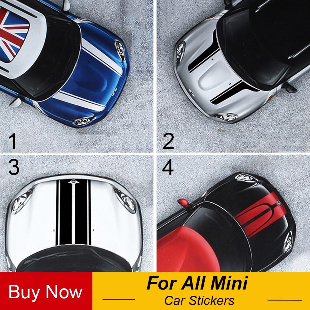 Haube Streifen Auto Aufkleber Aufkleber Auto-styling Für MINI Cooper S Countryman Clubman Paceman R56 R60 R61 F54 F55 f56 Zubehör