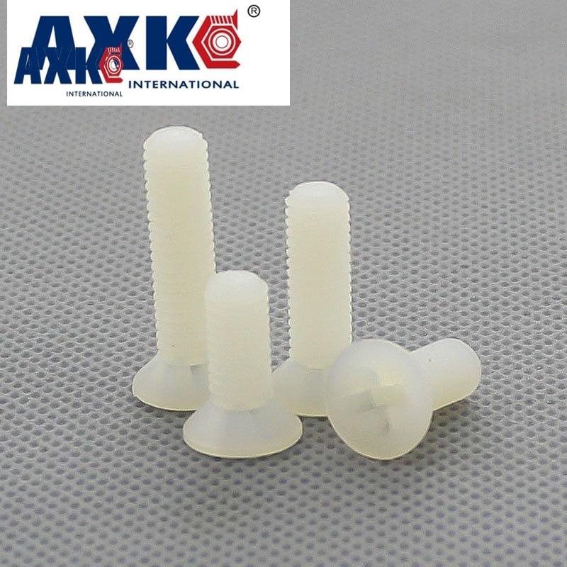 AXK 100pcs M2.5 M3 M4 M5 Nylon Plastic Countersunk Head Phillips Socket Screw накладки на ручки fulajimi m3 m5