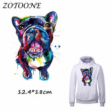 ZOTOONE Patch for Clothes T Shirt Cool Watercolor Dog Ironing on Patches Stickers DIY Heat Transfer Accessory Washable Appliques