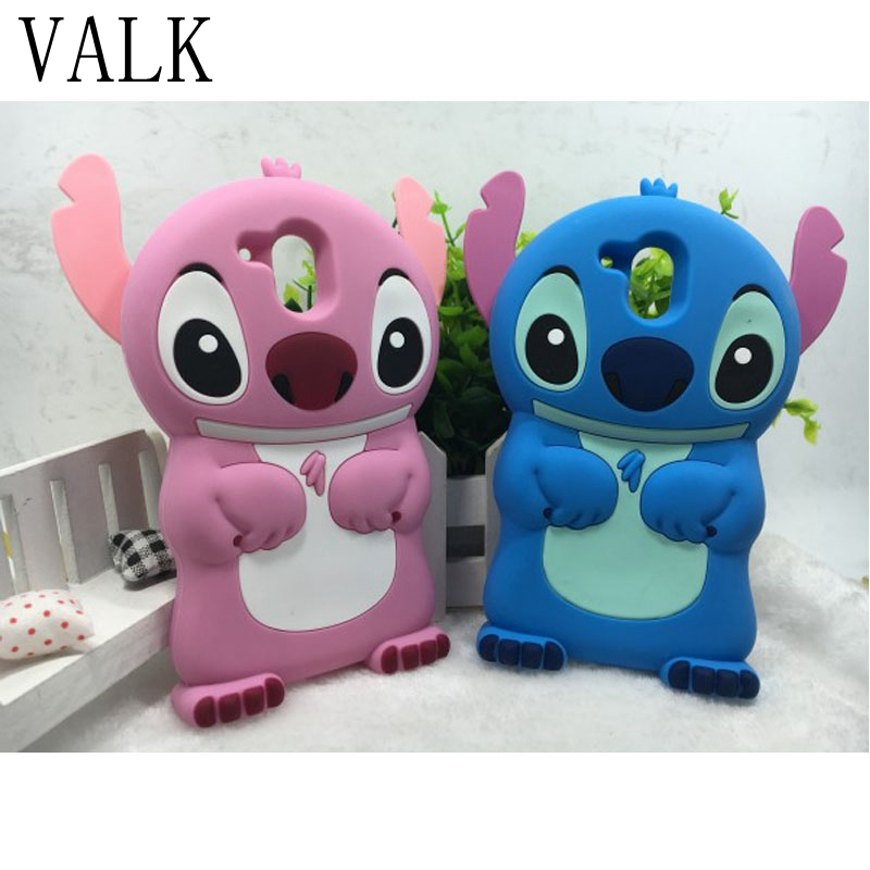 Soft Silicon Phone Cover For HTC Desire 526 526G+ 526G Cute Blue pink Stitch Protective Phone Cases For HTC 526