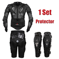 Herobiker protección del cuerpo de la motocicleta de carreras de motocross armadura de cuerpo completo + engranajes pantalones cortos + moto protector de la rodilla almohadilla
