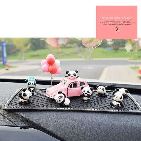 8PC Personality Panda Car Jewelry Ornaments Cute Car Decoration High-end Car Central Control Interior Auto Products Accessories Karachi