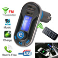 Hot voiture FM Transmitter Wireless Bluetooth Music Hands-free Calling Wireless MP3 Player Car Kit USB Charger SD LCD CY042-CN