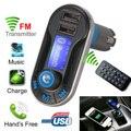 Voiture caliente FM Transmisor Inalámbrico de Música Bluetooth Llamadas Manos Libres Inalámbrico Cargador de Coche Reproductor de MP3 USB SD LCD CY042-CN