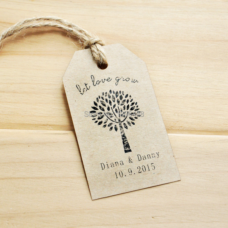 Wedding Party Decoration Personalized Wedding Tags Wedding