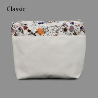 New Flower PU Leather Inner Zipper Pocket Lining Waterproof Insert For Big Classic Obag EVA AMbag