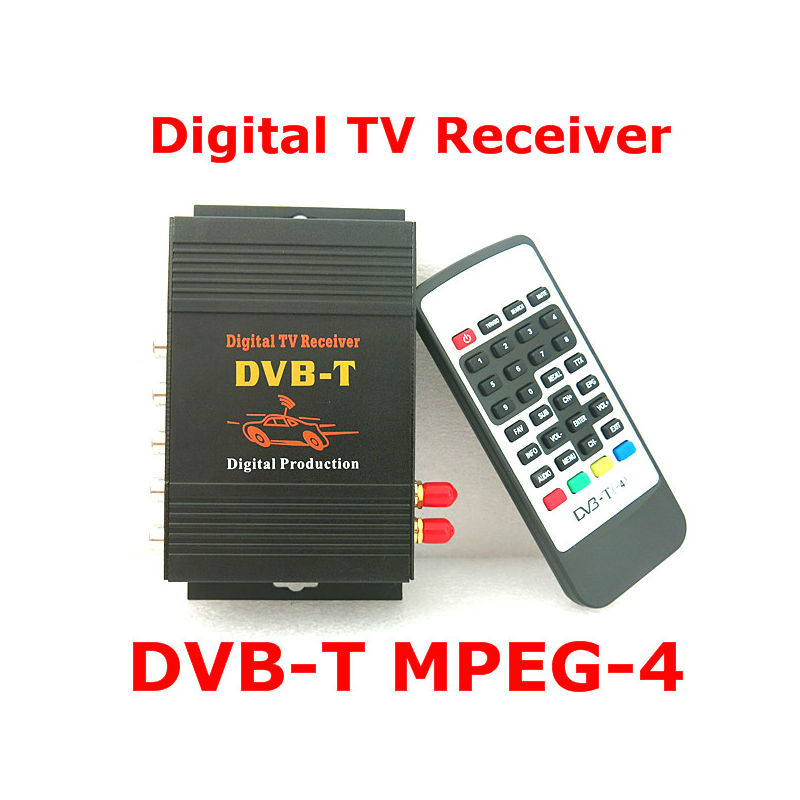 цена на Dual Antenna Car DVB-T Tuner Digital Car Tv Tuner MPEG2 MPEG4 MPEG-4 Car mobile digital DVB T Receiver For car monitor