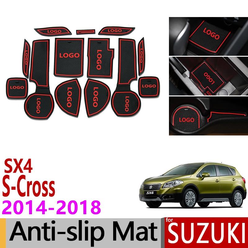Car External Accessories sticker For Sx4 S-Cross 2014-2017 Stainless Steel Door Sills Pedal Welcome Plate