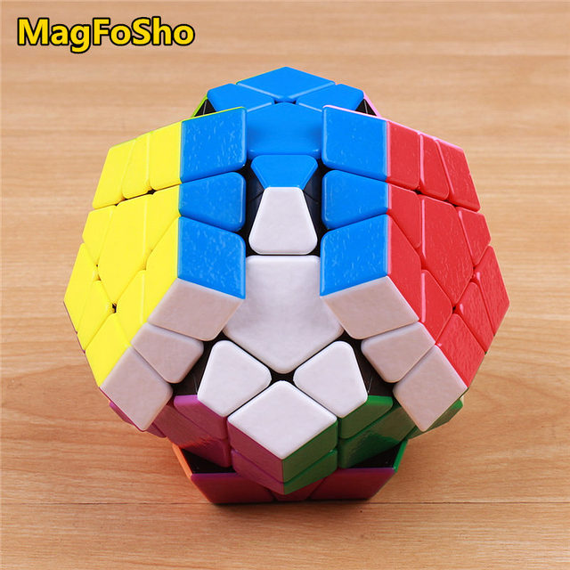 Shengshou MagFoSho Megaminxeds Magic Cube Speed Puzzle Cubes sticker less anti stress toys professional 12 sides cube 4
