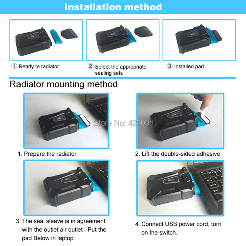 Coolcold Portable Laptop USB Cooling Fan Air Cooler Speed