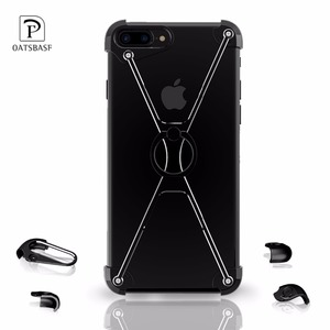 Image 5 - Oatsbasf X Shape Metal Border Case for iPhone 7 Personality Shell for iPhone 7 Plus Metal Bumper Ring Holder cases for iphone 6