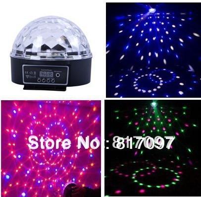 En gros 6X3 W LED effets éclairage son Auto-course DMX 7 canaux Disco boutique fête lumières fête lumières DJ scène Disco Ball