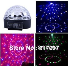 Wholesale 6X3W LED Effects Lighting Sound Auto-Running DMX 7 Channels Disco Shop Party Lights party lights DJ Stage Disco Ball