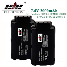 ELE ELEOPTION 7.4V 2000mAh Lithium Ion Rechargeable Battery For Paslode 902654 902400 918000 B20543 B20543A CF325Li