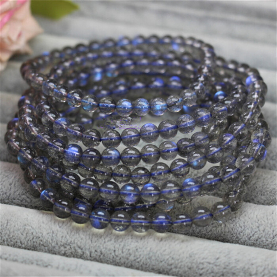 Wholesale 8mm Genuine Natural Moonstone Labradorite Stretch Bracelets For Women Femme Charm Round Crystal Bead Bracelet 8 5mm natural zoisite gem stone crystal round bead bracelets for women femme charm stretch bracelet