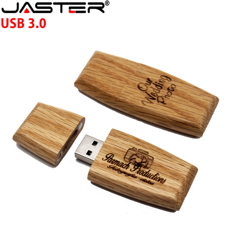 JASTER USB 2.0 cutomer LOGO wooden block USB flash drive pendrive 4GB 8GB 16GB 32GB 64GB memory stick usb creative gift
