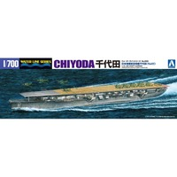 Aoshima 00953 1 700 Chiyoda JPN Aircraft Carrier Assembly Scale Military Ship Model Building Kits TTH