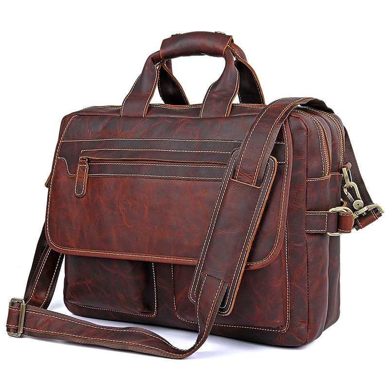 Mens 100% Genuine Leather Cowhide Vintage Real Leather Briefcase Messenger Shoulder Bag Laptop Tote Case Office HandbagMens 100% Genuine Leather Cowhide Vintage Real Leather Briefcase Messenger Shoulder Bag Laptop Tote Case Office Handbag