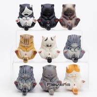 Cartoon Cat Bells Vol.3 Kawaii Cats PVC Figures Cute Lovely Neko KittenToys Dolls Gifts 9pcs/set
