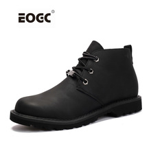 High Quality Men Boots Vintage Style Lace Up Men Shoes Casual Genuine Leather Fashion Autumn Working Ankle Boots