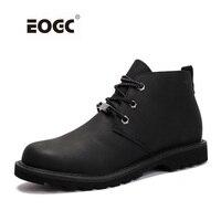 Yüksek Kalite Erkekler Boots Vintage Stil Dantel Kadar Erkek Ayakkabıları Rahat Hakiki Deri Moda Sonbahar Çalışma Ankle Boots