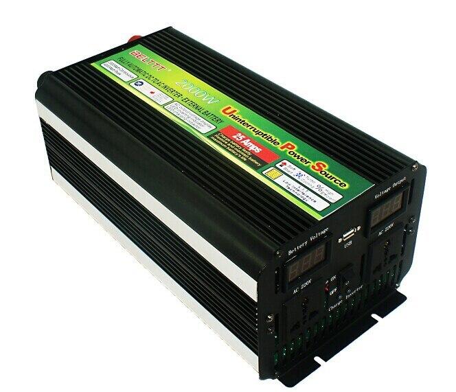 Bon prix et qualité, 2000 w dc 24 v à ac 220 v onduleur à onde sinusoïdale modifiée avec chargeur ups et affichage de LED