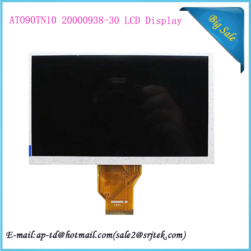 где купить 9 Inch for AT090TN10 20000938-30 00 LCD LCM Display PANEL SCREEN 800*480 For Allwinner A13 Q9 Sanei N91 Elite MOMO9 Tablet PC дешево
