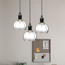 Glass Pendant Lights Kitche Modern Lighting Fixtures Bedroom Hotel Light Bar Home Ceiling Lamp