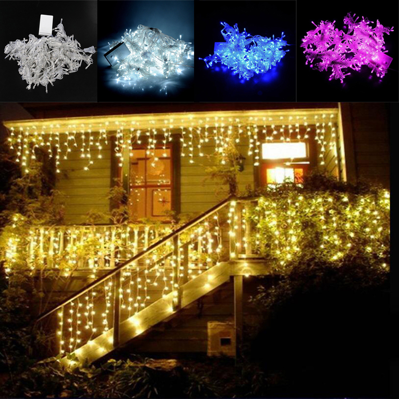 6m x 3m led waterfall outdoor fairy string light christmas wedding party holiday garden 600 led - Waterfall Christmas Lights