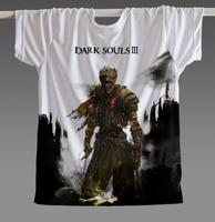 [XHTWCY] New Summer T Shirt Men Women Dark Souls 2 Tshirt Video Game Tops Camisetas Dark Souls 3 Clothing Man Casual