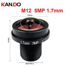 "Fisheye M12 5Megapixel 1.7mm Fisheye Lens For HD CCTV IP Camera M12 Mount 1/2.5"" F2.0 180Degree Wide Angle Panoramic CCTV Lens"