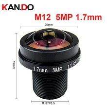 "Fisheye m12 5megapixel 1.7mm lente olho de peixe para hd cctv câmera ip m12 montagem 1/2.5 ""f2.0 180 graus grande angular panorâmica cctv lente"