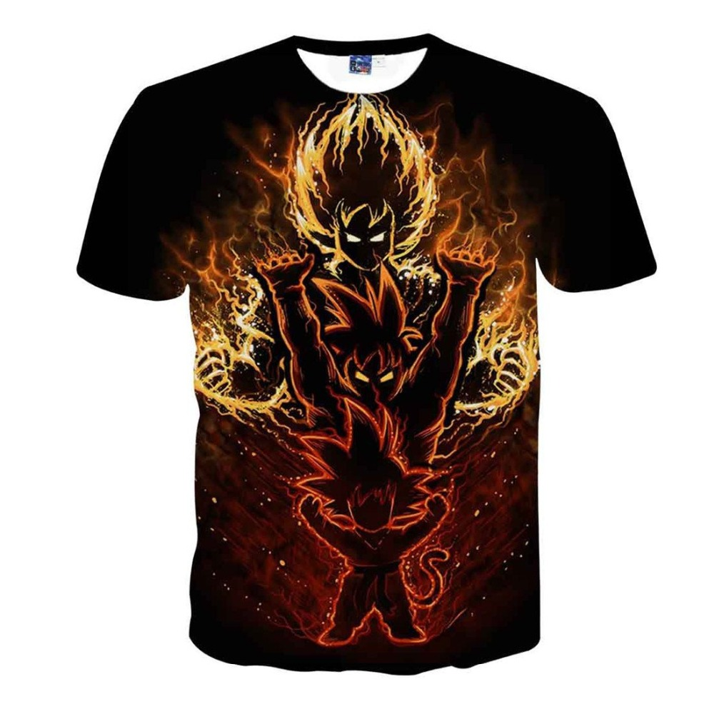 2019 Summer New Son Goku Goten T Shirt Men/Women Casual Fitness Clothing Anime 3D Printed Men T-Shirt Dragon Ball Z Tops&Tees