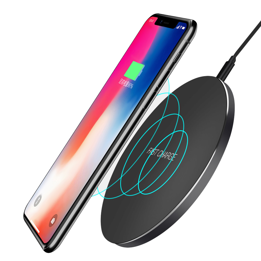 Wireless Charger for iPhone 8/X /8 Plus 10W Qi Fast Wireless Charging Pad Wireless Charger for Samsung Galaxy S7/ S8 /S9 S9+