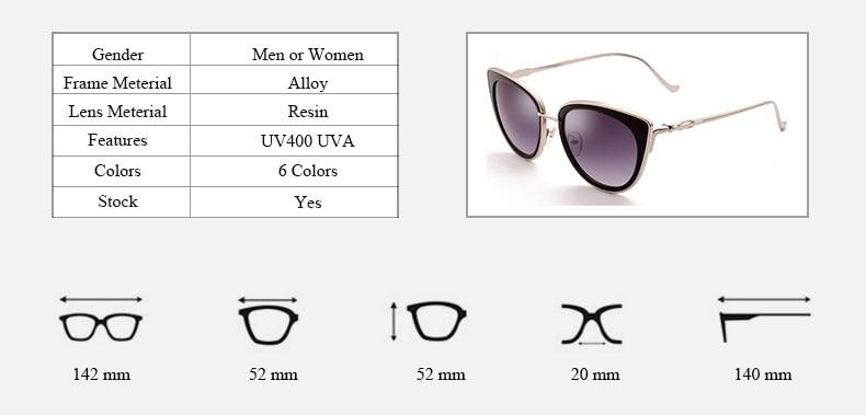 34b36bc3f427 2017 Gaya Baru Cat Eye Wanita Sunglasses Musim Panas Hot Sale busana ...