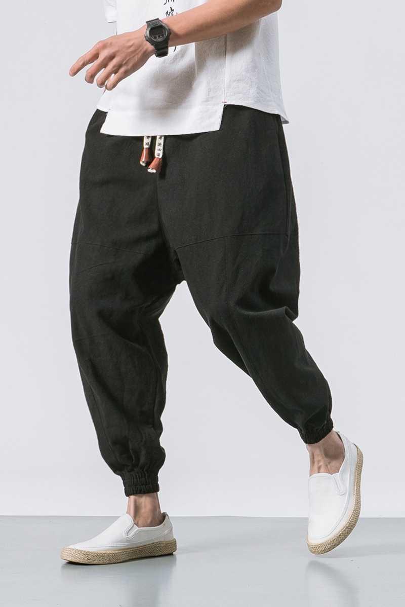 Штаны-шаровары мужские летние тонкие брюки с эластичной резинкой на талии брюки мужские s 2019 Беговые брюки в повседневном стиле тренировочные брюки мужские китайские традиционные Harajuku