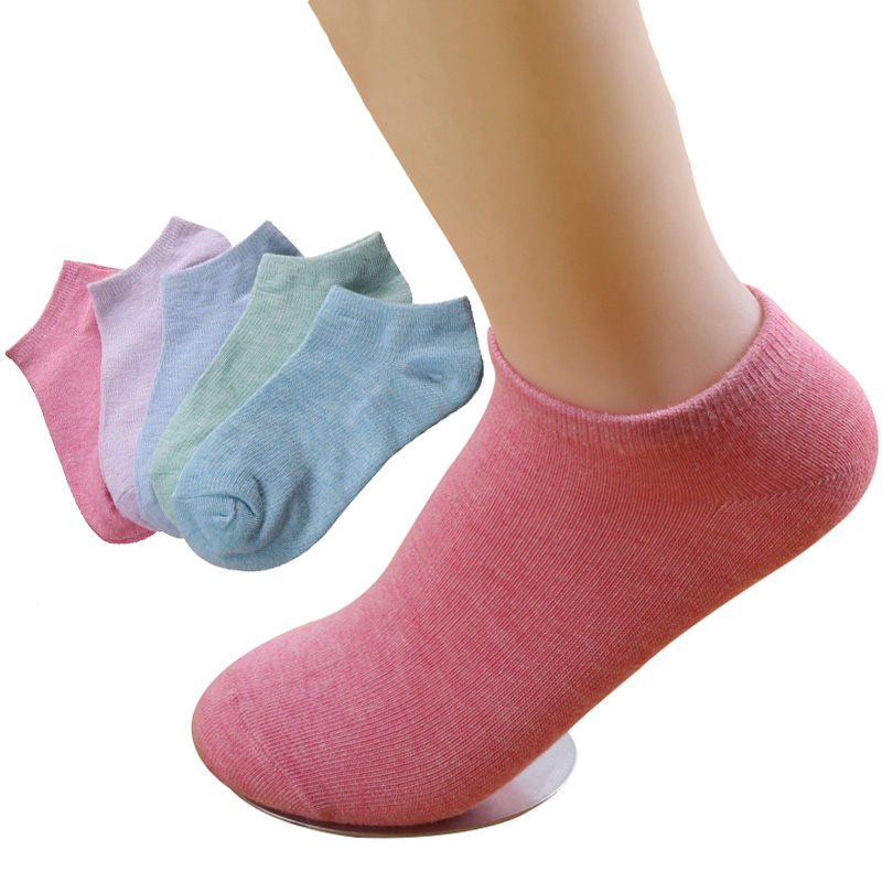 6 Pairs Women's Socks Candy Solid Color Casual Comfort Ankle Socks Women Female Stretchy  Cotton Socks Hosiery Calcetines Mujer