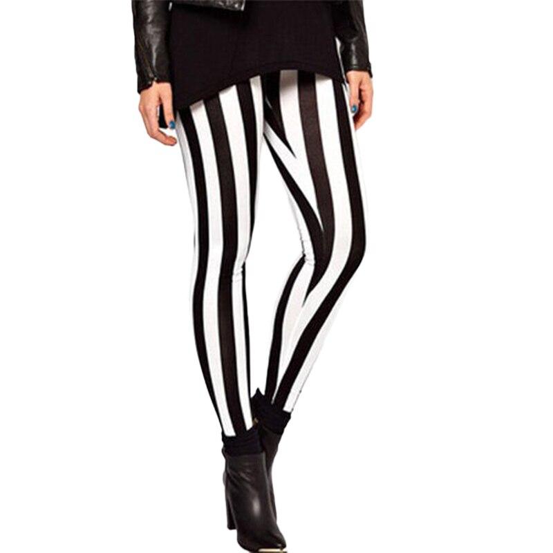 Womens Clothing Black White Horizontal Stripe Cotton Yoga -7205