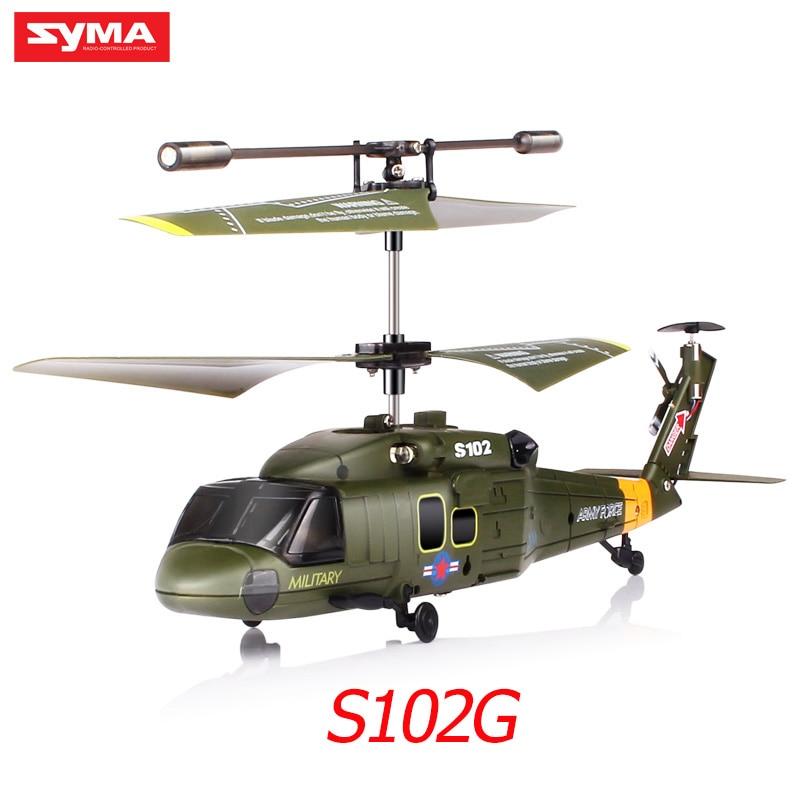 Drone syma s102g s108g s109g s111g rc helicóptero 3ch gyro helicóptero de ataque