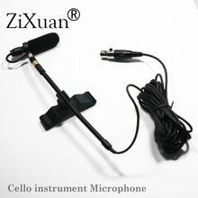 Pro Music Instrument Microphone Condenser Cello Instrument Microfone for Shure AKG Samson Wireless System XLR Mini  Transmitter