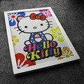 30*40 cm Colorido Olá Kitty 5D Diy Diamante Pintura Completa Bordados Diamante Redondo de Strass Para A decoração do Quarto, presente de aniversário