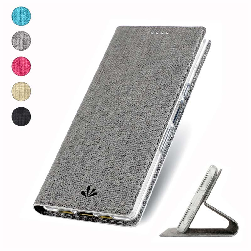 Magnetic Case Protective Phone Case Soft Flip Leather Phone Cover For Sony Xperia XA2Plus XZ3 10 10Plus XZ4 XZ4Compact KS0258 in Flip Cases from Cellphones Telecommunications