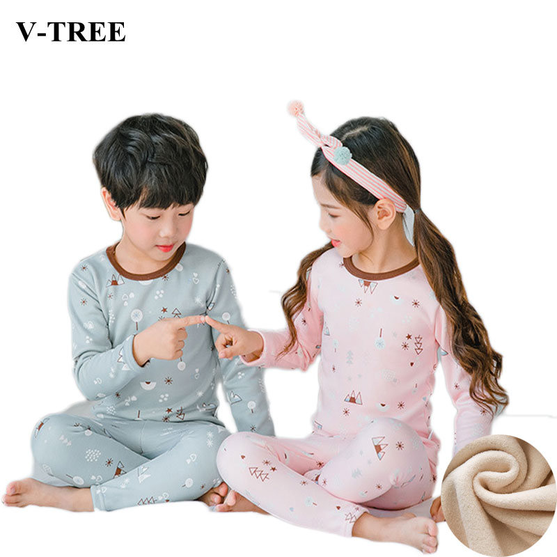 Detail Feedback Questions about Winter Children Pajamas For Girls Fleece  Boys Sleepwear Cartoon Kids Pyjamas Warm 3 10T Teenager Christmas Pajamas  Sets on ... cf76889f6
