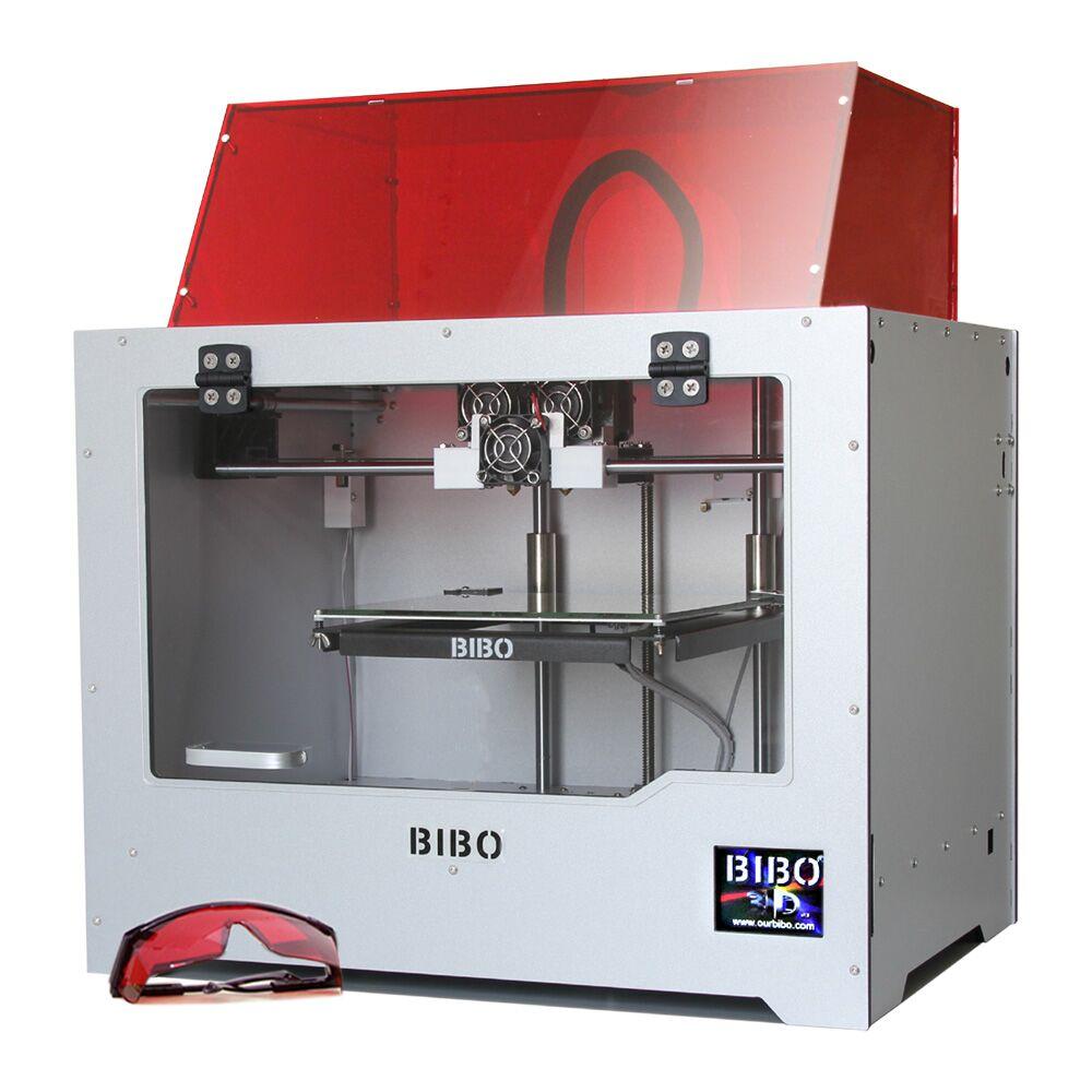 Бибо 3D-принтеры сократить время печати в половине металла Рамки двойной экструдер лазерный гравер Сенсорный экран WIFI нити обнаружения не DIY